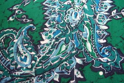 Beispiel für eine Wachs-Batikarbeit.