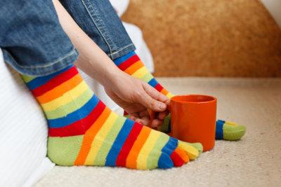 Bekommen Sie warme Füße mit Thermosohlen.