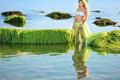 Ein Meerjungfraukostüm ist leicht zu nähen.