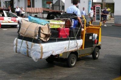 Beschädigte Koffer können repariert werden.