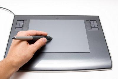 Zum Digital Painting gehört ein Grafiktablett.