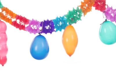 Luftballon-Spiele zum Kindergeburtstag.