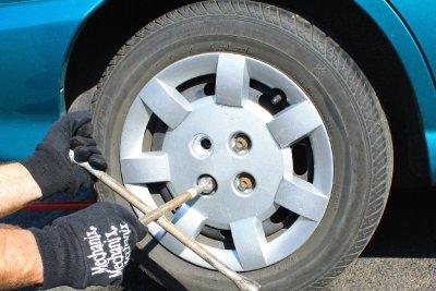 Festgerostete Reifen lassen sich schwer lösen.