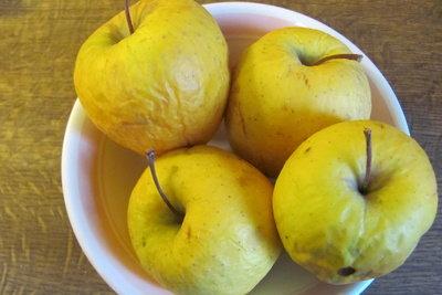 Apfelgerichte - lecker mit gelben Äpfeln.