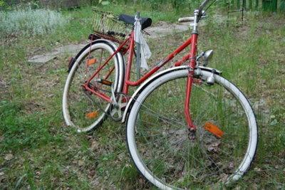 Manchmal quietschen die Bremsen beim Fahrrad