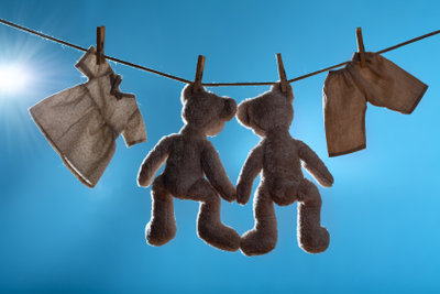 Teddys sind auch waschbar.