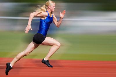Sprinterin im Lauftraining