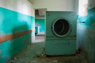 Waschmaschinen sind schwere Brocken.
