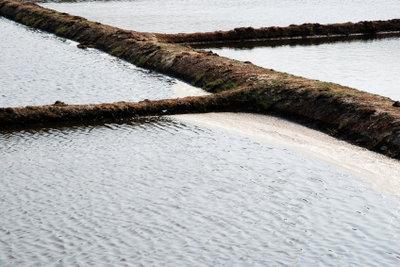 Salzgewinnung durch Verdunstung von Meerwasser