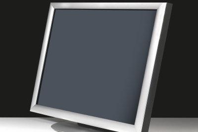 Das Computerbild am Monitor vergrößern.