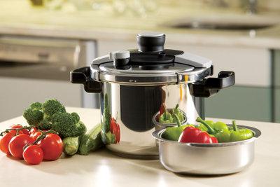 Schnellkochtöpfe ermöglichen schnelles und gesundes Garen.