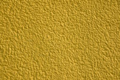 Der Außenputz kann auch farbig sein.