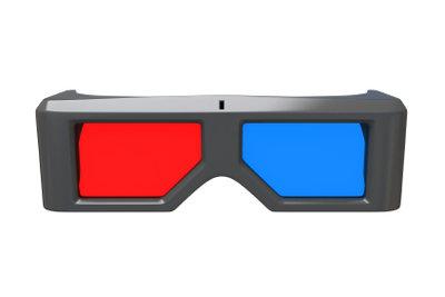 Das ist eine 3D-Brille.