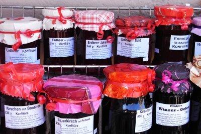Verkaufen Sie Ihre selbstgemachte Marmelade.