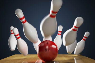 Bowling ist ein geselliger Sport.