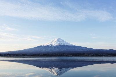 Der Berg Fuji ist eines der Wahrzeichen Japans.