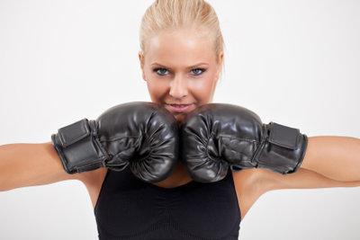 Auch bei Frauen ist Boxen beliebt.