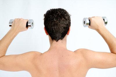 Die Armmuskeln kann man effektiv aufbauen.