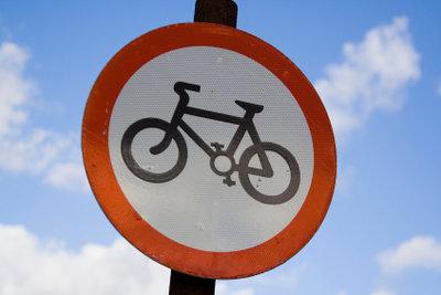 Befahren mit dem Fahrrad nicht erlaubt