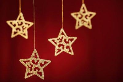 Sterne für die Dekoration.