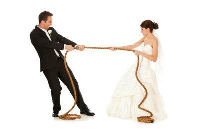 Hochzeitsspielchen sind eine Unterhaltungsmöglichkeit.