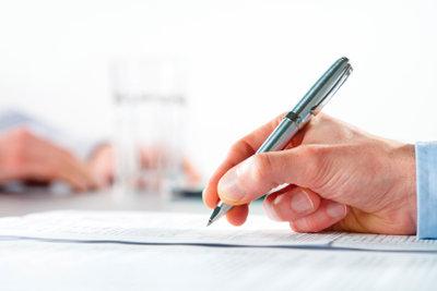Ein Schriftführer hat viele Aufgaben.