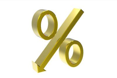 Prozentrechnung gehört zum Einstellungstest.