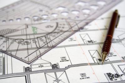 Im Grundrissplan sind tragende Wände ersichtlich.