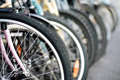 Hinterräder sind aufwendiger zu flicken.