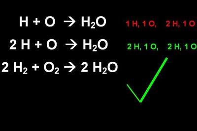 So müssen Sie Reaktionsgleichungen ausgleichen.