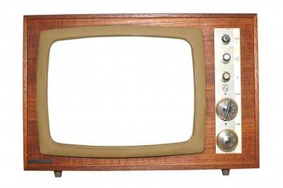 Früher benötigten Fernseher viel Platz.