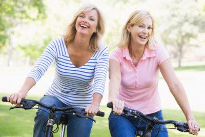 Gemeinsam macht Fahrrad fahren mehr Spaß.