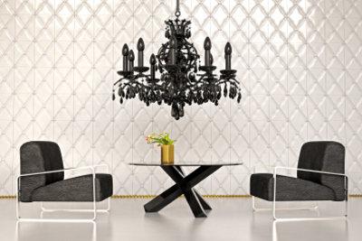 Auch eine schwarz-weiße Einrichtung wirkt modern.