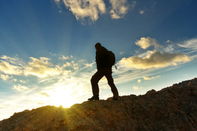 Bergsteigen ist ein anspruchsvoller Sport.