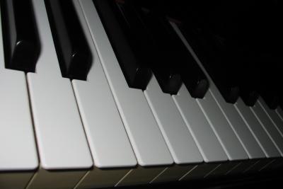 Keyboard spielen macht Freude.