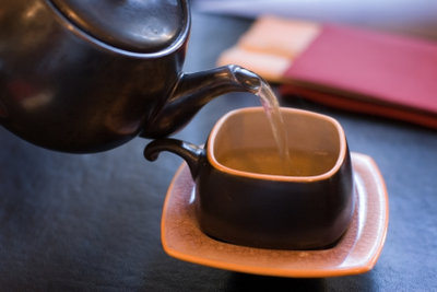 Grüner Tee ist immer gut.