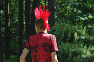 Iro-Frisur beim Punker - auffällig mit viel Aufwand