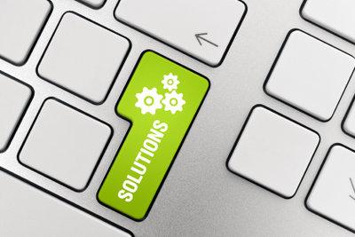 Die Laptop-Tastatur ist fest integriert.