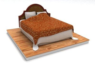 Ein Kopfteil wertet das Bett auf.