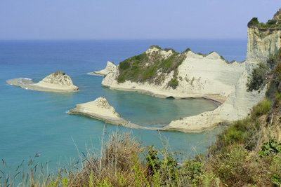 Traumhafter Blick auf die Insel Korfu