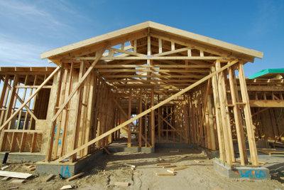 Holzständerbauweise -  beim Bau muss genau gearbeitet werden