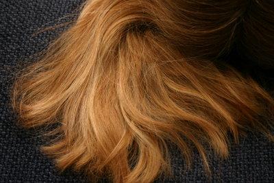Auf blonde haar strähnchen braunem Blonde Strähne