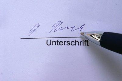 Nachmietervereinbarung von beiden Parteien unterschreiben lassen