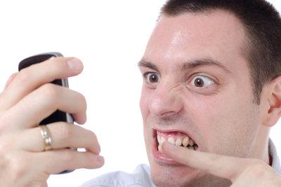Mit dem Handy nicht anrufen können, ist ärgerlich.