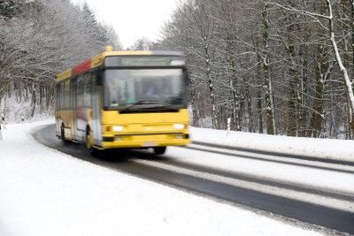 Nicht immer fahren die Busse bei Schnee.