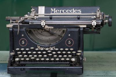 Alte Schreibmaschinen sind ein toller Hingucker.