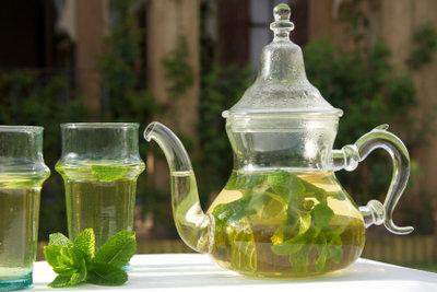 Tee aus frischer Minze ist das marokkanische Nationalgetränk.