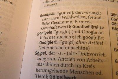 Ein Wörterbuch gehört in jeden Haushalt.