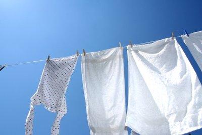 An der bewegten Luft trocknet Wäsche sehr schnell.