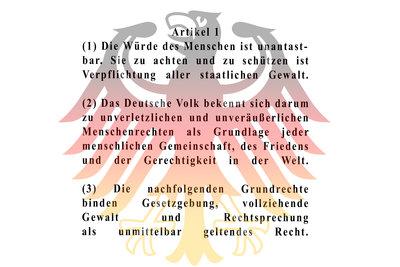 Jedermanns- und Deutschenrechte im Grundgesetz.